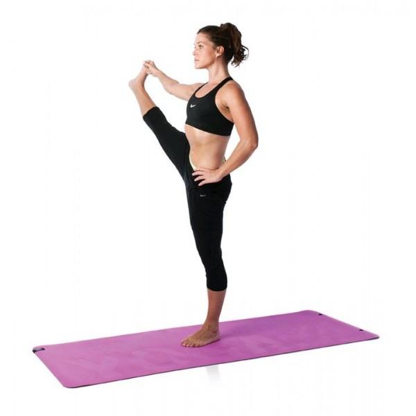Эко-мат для йоги, розовый