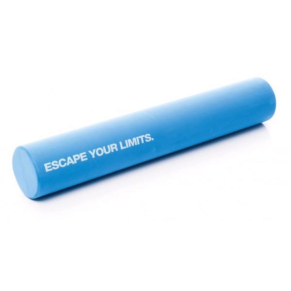 Массажный цилиндр для пилатес удлиненный, голубой